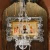 Оклад на икону с лампадой