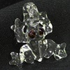 Кулон в виде лягушки из прозрачного кварца